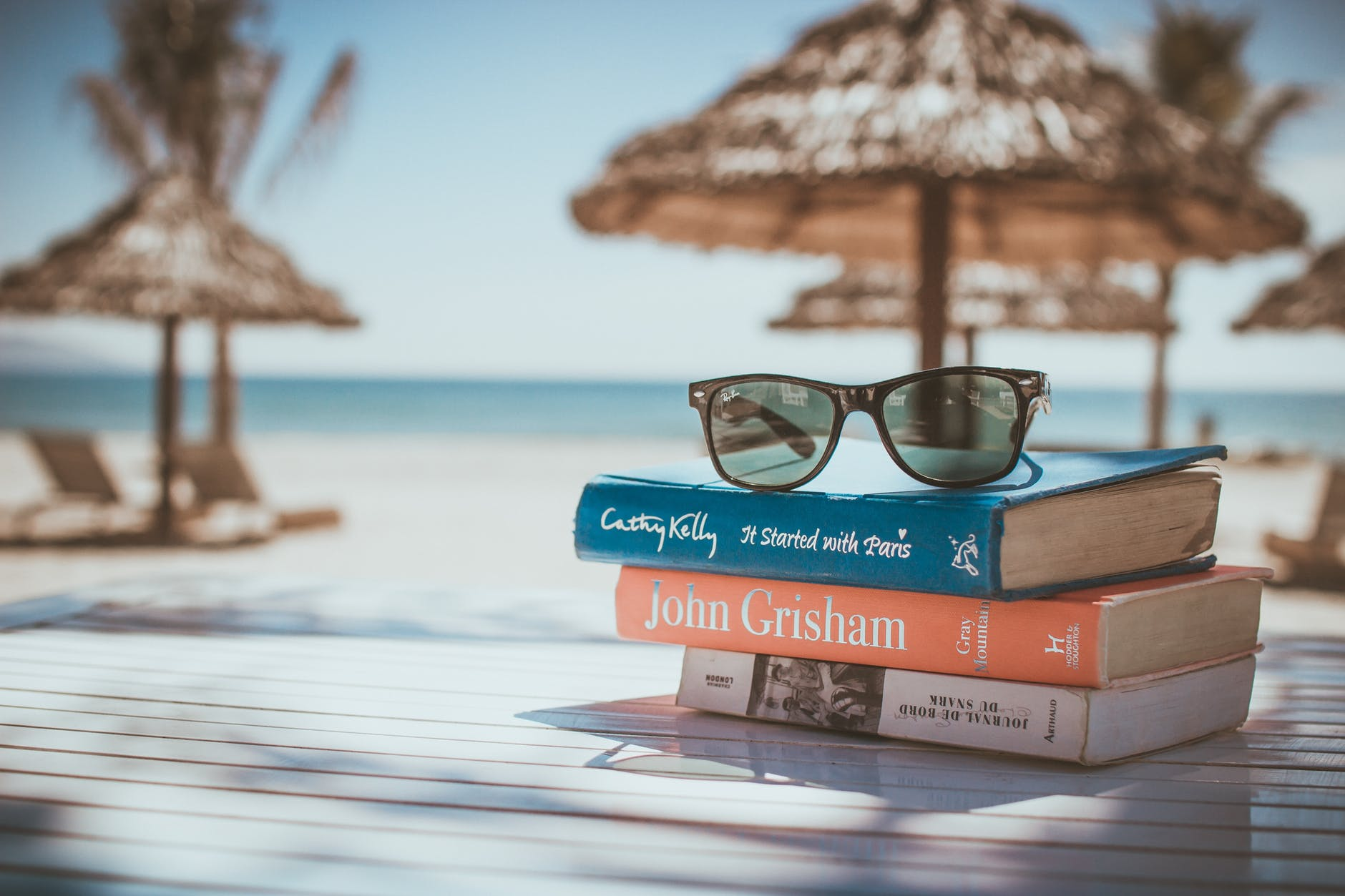 books-on-beach